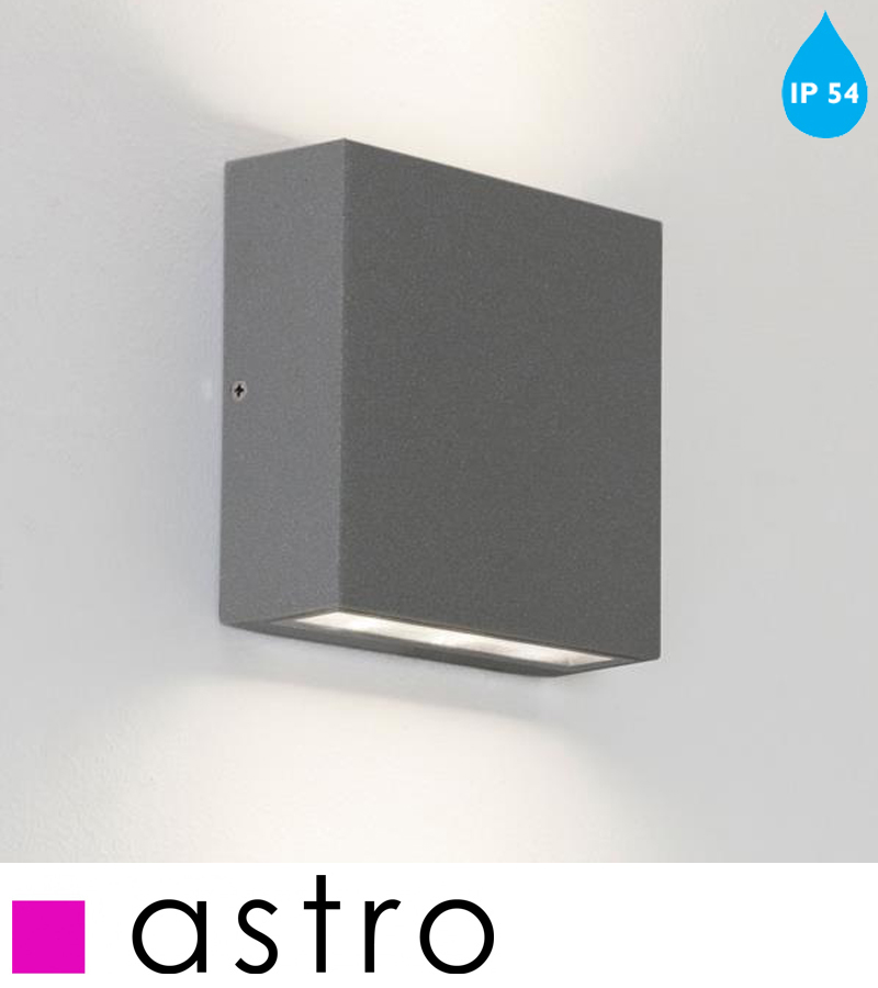 Astro Elis Twin IP54 LED Outdoor Wall Up & Down Light, Painted Silver - 7204 from Easy Lighting