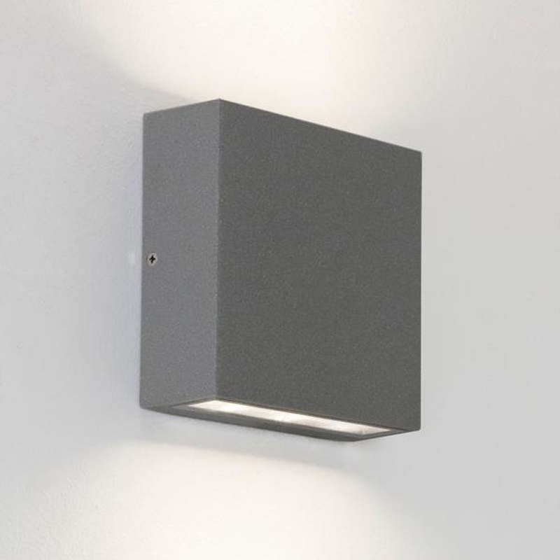 Astro Elis Twin IP54 LED Outdoor Wall Up Down Light Black