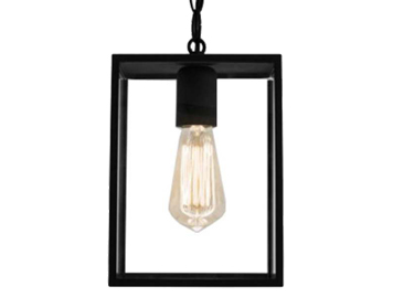 Astro Homefield 240 Exterior Ceiling Pendant, Textured Black Finish With Clear Glass - 7207