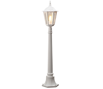 Outdoor pedestal lights from easy lighting konstsmide firenze ip43 1 light outdoor post light white finish with clear glass aloadofball Gallery