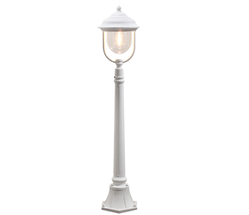 Konstsmide 39 Parma 39 IP43 1 Light Outdoor Pedestal Light White Finish