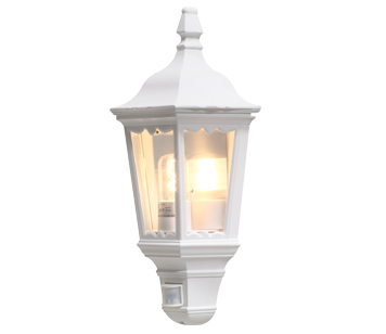 Outdoor flush wall lights from easy lighting konstsmide firenze ip43 1 light outdoor flush wall light white finish with clear mozeypictures Gallery