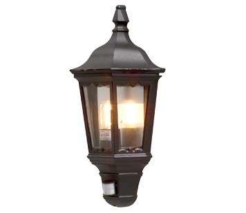 Outdoor security lights from easy lighting konstsmide firenze ip43 1 light outdoor flush wall light black finish with clear aloadofball Choice Image