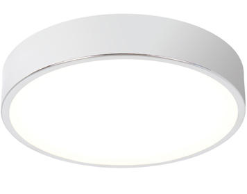 Endon Lipco Flush Bathroom Ceiling Light, White Acrylic & Chrome Plate Finish - 72456
