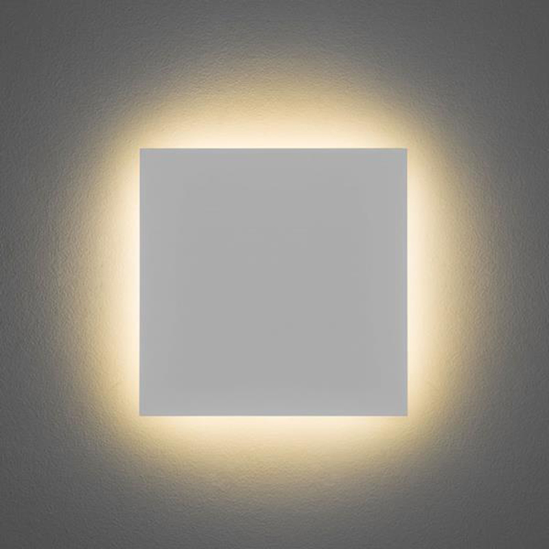 Led Wall Light White: Astro 'Eclipse Square 300' IP20 3000k LED Wall Light