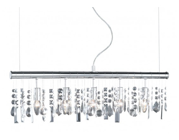 Action Crystal 5 Light Ceiling Pendant, Chrome - 725805010000