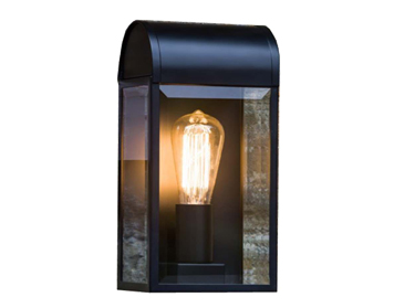 Astro Newbury Outdoor Flush Wall Light, Textured Black Finish With Clear Glass - 7267