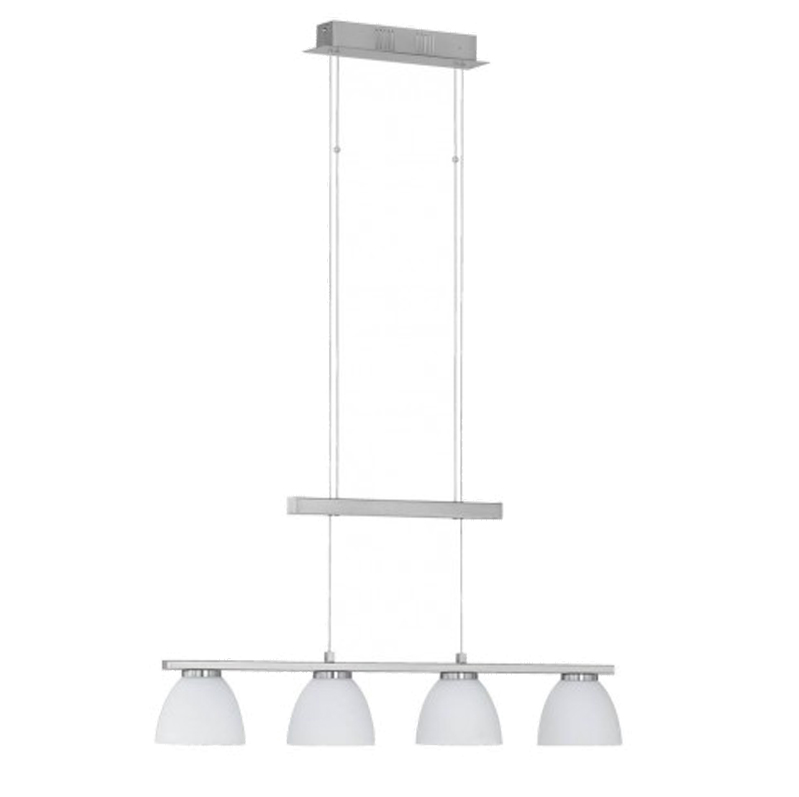 Wofi Ava 4 Light LED Rise & Fall Ceiling Pendant Light, Matt Nickel - 7270.04.64.0000