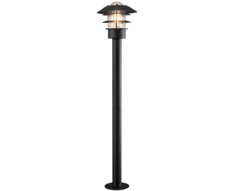 Konstsmide Modena 1 Light Outdoor Post Light, Black Finish With Clear Glass Shade - 7311-750
