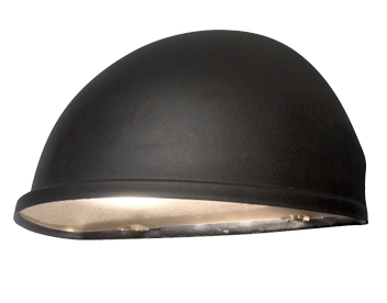 Konstsmide Torino 1 Light Large Outdoor Wall Light, Black Finish With Frosted Acrylic Glass - 7326-750