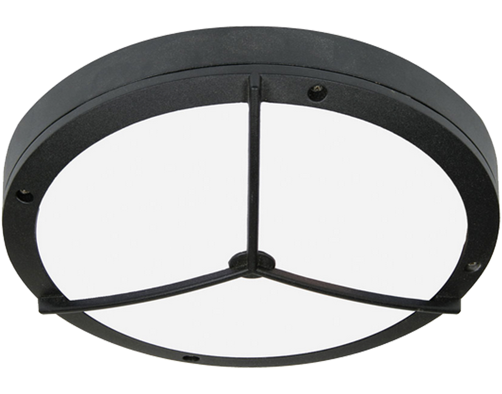 Oaks Lighting Marton Exterior Wall Light, Black - 734 BK