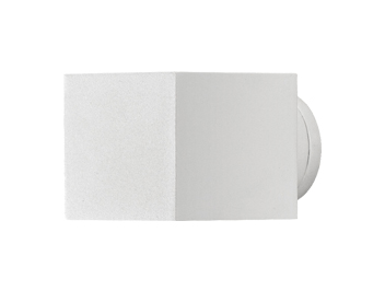Konstsmide Modena Square 1 Light Outdoor Up & Down Wall Light, White Finish - 7341-250