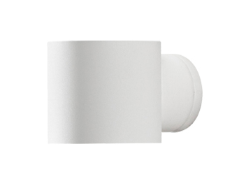 Konstsmide Modena Round 1 Light Outdoor Up & Down Wall Light, White Finish - 7342-250