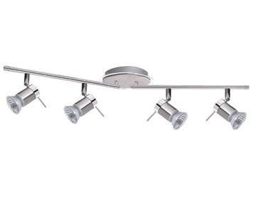 Searchlight Aries 4 Light Split Bar Spotlight, Chrome Finish - 7444CC-LED