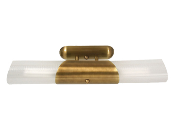 Oaks Lighting Short Fluorescent Ceiling Light, Antique Brass Finish - 747/26/2 AB