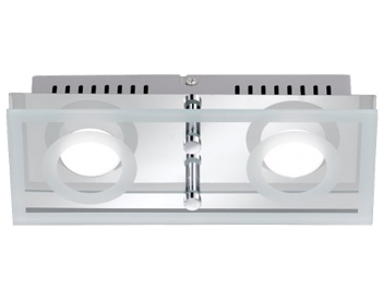 Wofi Mira LED 2 Light Ceiling Light, Chrome - 7475.02.01.0000