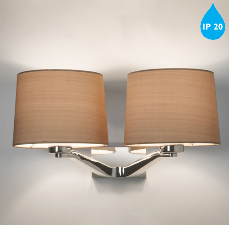 Astro Montclair Twin IP20 Wall Light, Polished Chrome - 7477 from Easy Lighting