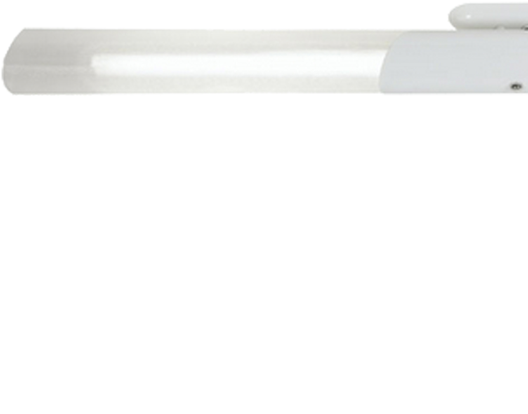 Oaks Lighting Long Fluorescent Ceiling Light, White - 747/36/2 WH