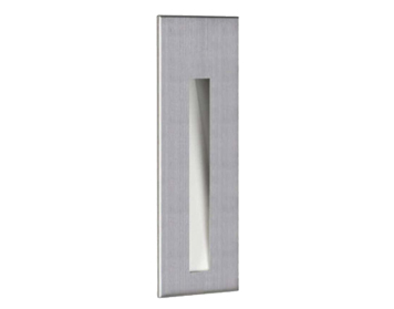 Astro Borgo 43 LED Recessed Wall Light, Brushed Stainless Steel Finish - 7481