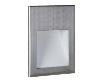 Astro Borgo 54 LED Recessed Wall Light, Brushed Stainless Steel Finish - 7483
