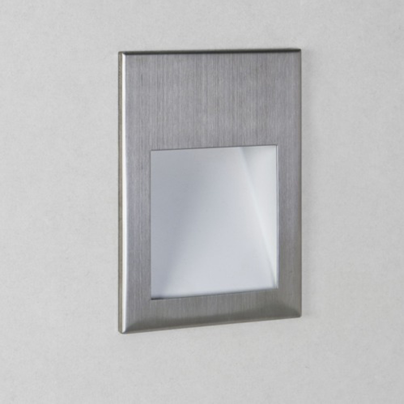 Astro Borgo 54 LED 2700k Recessed Wall Light, Brushed Stainless Steel Finish - 7544