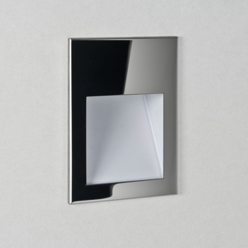 Astro 'Borgo 54' LED IP65 2700k Recessed Wall Light, Polished Stainless Steel Finish - 7546