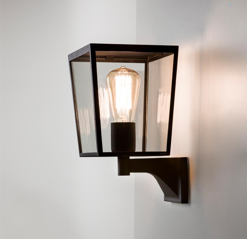 Simple Black Wall Lights : Astro Farringdon IP44 Outdoor Wall Light, Black - 7488 from Easy Lighting