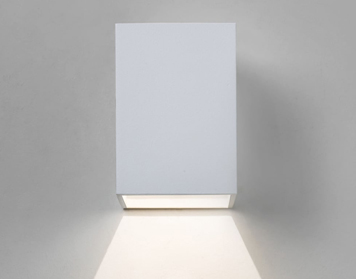 Astro Oslo 100 LED Exterior Wall Light, Textured White Finish - AST 7493