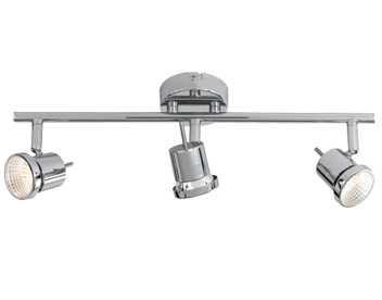 Three bar spot lights from easy lighting action hoorn 3 light led ceiling bar spotlight chrome 750303010000 mozeypictures Image collections