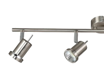 Action Hoorn 4 Light LED Ceiling Bar Spotlight, Matt Nickel Finish - 750304640000