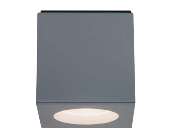 Astro Kos Square Bathroom Downlight, Textured Painted Silver Finish - 7509