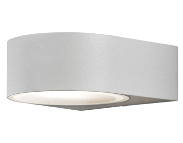 f674d9c96e92 Konstsmide Teramo 1 Light Outdoor Up & Down Wall Light, Grey Finish With  Frosted Glass