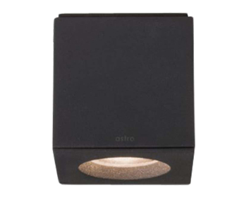 Astro Kos LED Square Bathroom Downlight, Textured Black Finish -  7510