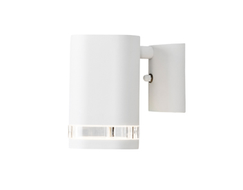 Konstsmide Modena 1 Light Outdoor Wall Light, White Finish With Clear Plastic Diffuser - 7511-250