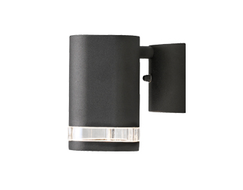 Konstsmide Modena 1 Light Outdoor Wall Light, Black Finish With Clear Plastic Diffuser - 7511-750