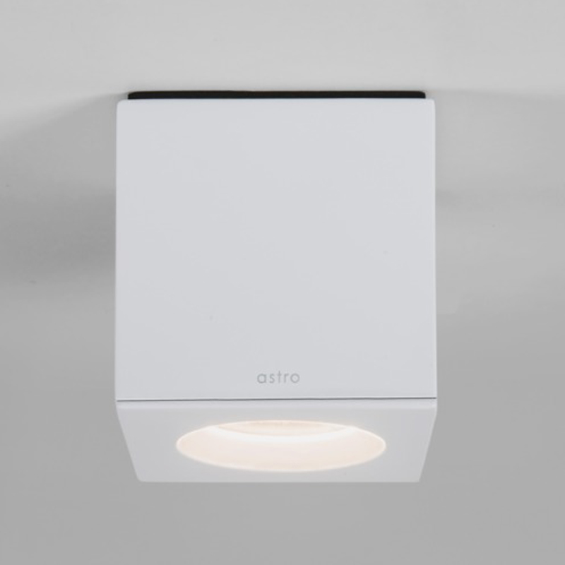 Astro Kos IP65 LED Square Bathroom Downlight Painted White
