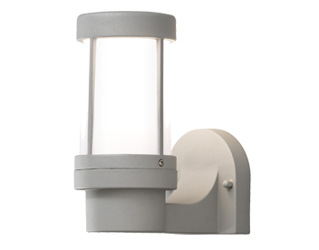 Konstsmide Siena 1 Light Outdoor Wall Light, Light Grey Finish With Opal Acrylic Diffuser - SALE-7513-302