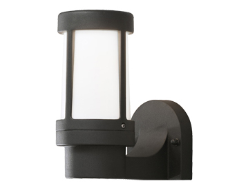 Konstsmide Siena 1 Light Outdoor Wall Light, Matt Black Finish With Opal Acrylic Diffuser - SALE-7513-752