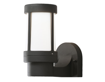 Konstsmide Siena 1 Light Outdoor Wall Light, Matt Black Finish With Opal Acrylic Diffuser - 7513-752