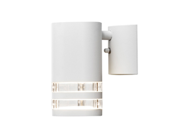 Konstsmide Modena 1 Light Outdoor Wall Light, White Finish With Clear Plastic Diffuser - 7515-250