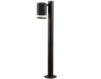 Konstsmide Modena Outdoor Post Light, Black Finish With Clear Plastic Diffuser - 7517-750