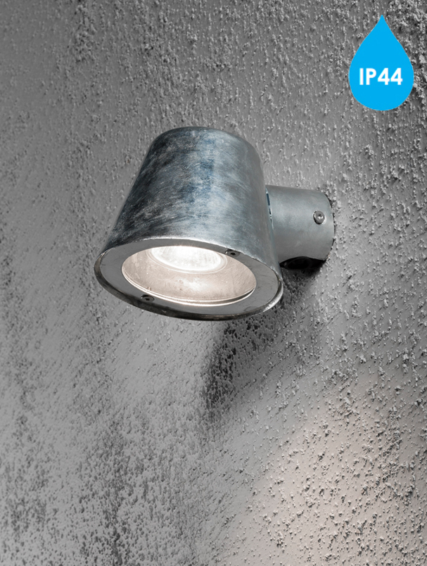 Konstsmide trieste ip44 1 light outdoor wall light galvanised konstsmide trieste ip44 1 light outdoor wall light galvanised finish with clear glass diffuser 7523 320 mozeypictures Images