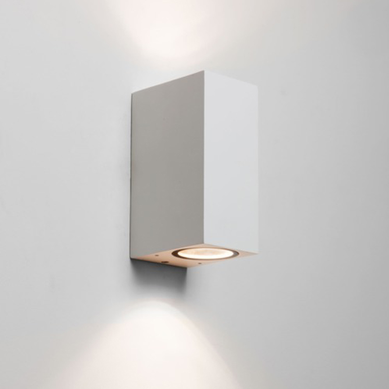 Up and down wall lights from easy lighting astro chios 150 ip44 up down double wall light white 7565 mozeypictures Gallery