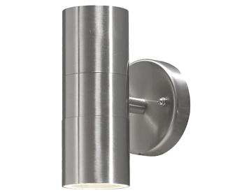 9414f95eebf5 Konstsmide Modena 2 Light Outdoor Up & Down Wall Light, Stainless Steel  Finish - 7571