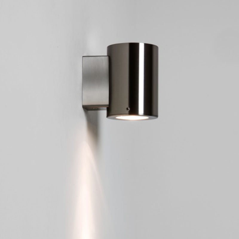 Astro Detroit Single Outdoor Downward Wall Light, Stainless Steel Finish - 7571