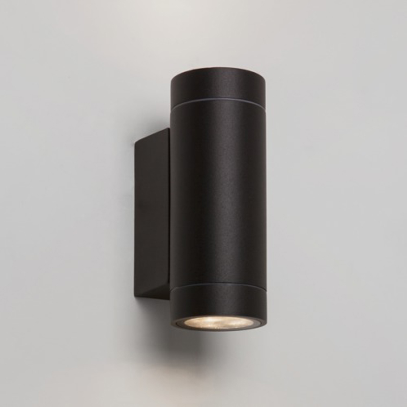 Astro Dartmouth Twin LED Outdoor Wall Light, Painted Black Finish - 7586
