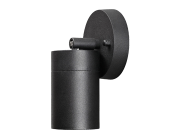 Konstsmide Modena 1 Light Adjustable Outdoor Wall Light, Matt Black - 7598-750
