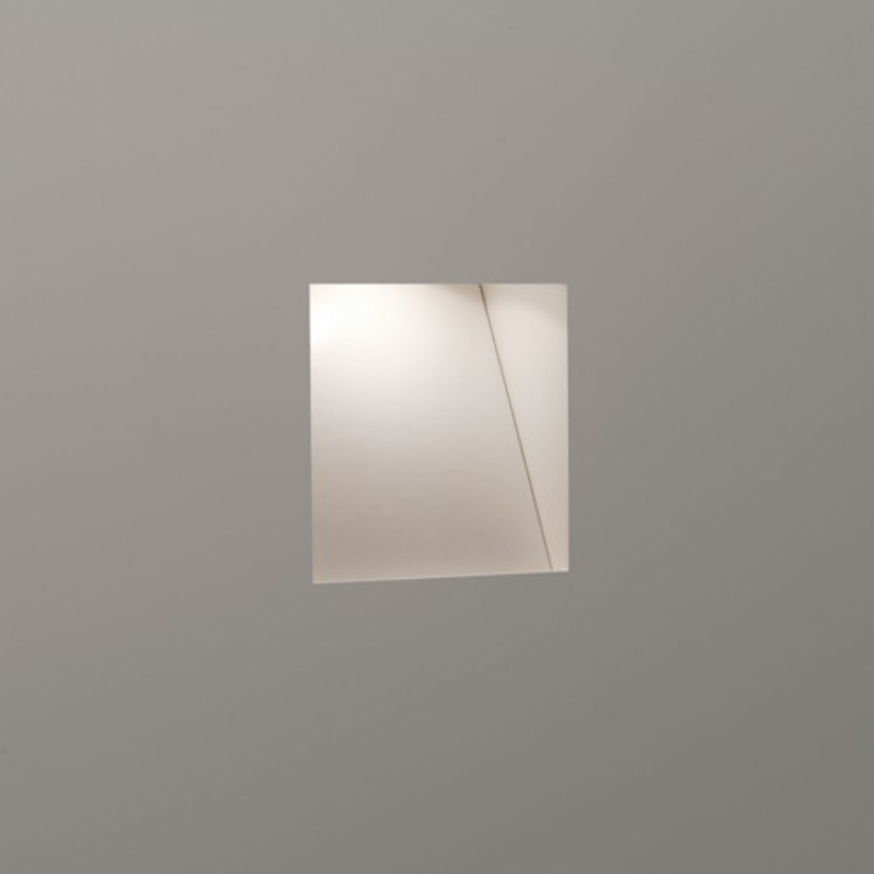Astro Borgo Trimless Mini LED 2700k Recessed Wall Light, White Finish - 7566