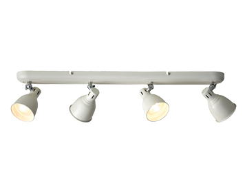 Endon Westbury 4 Light Bar Spotlight, Gloss Ivory & Gloss White Finish - 76290