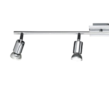 Action Solution 4 Light LED Ceiling Bar Spotlight, Chrome Finish - 763404010000